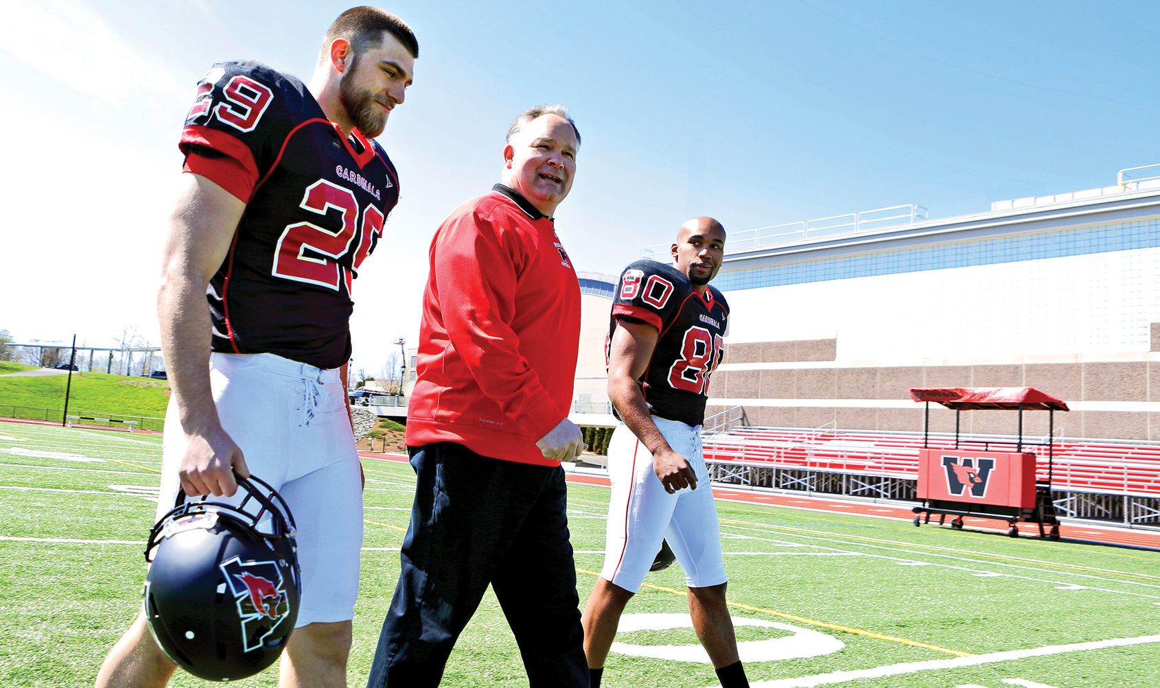 Coach Whalen focuses on Wesleyan's tradition of excellence to build a winning team.