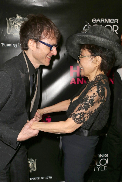 Stephen Trask and Yoko Ono on opening night of Hedwig and the Angry Inch in April. Photo courtesy of Stephen Trask.