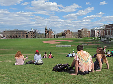 Spring has sprung at Wesleyan. (Photo by Dena Matthews)