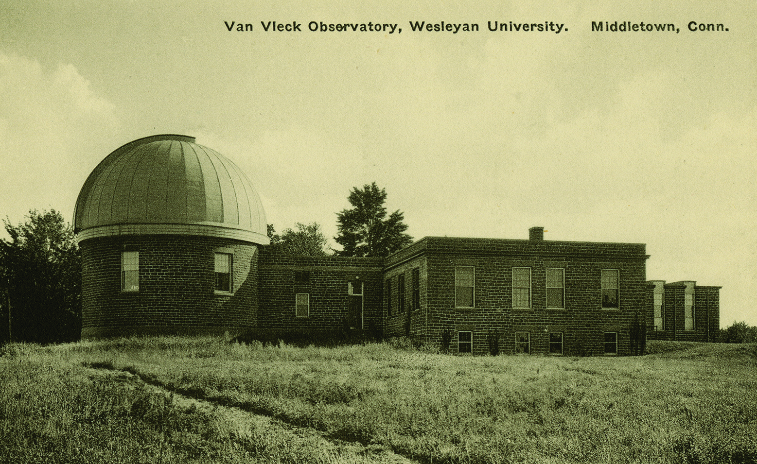 Henry Bacon's architecture at Wesleyan includes Olin Library (top), Eclectic (below), and Van Vleck Observatory (bottom).