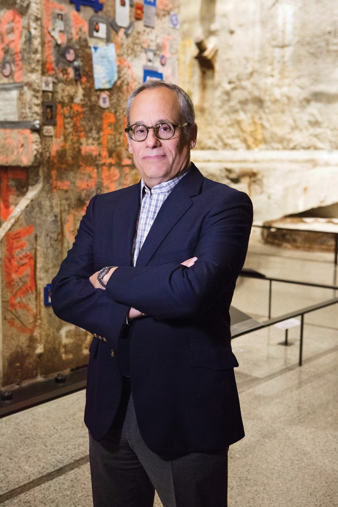 Clifford Chanin '75, vice president for education and public programs for the 9/11 Memorial Museum in New York, in the museum's soaring Foundation Hall. Phot: Robert Adam Mayer.