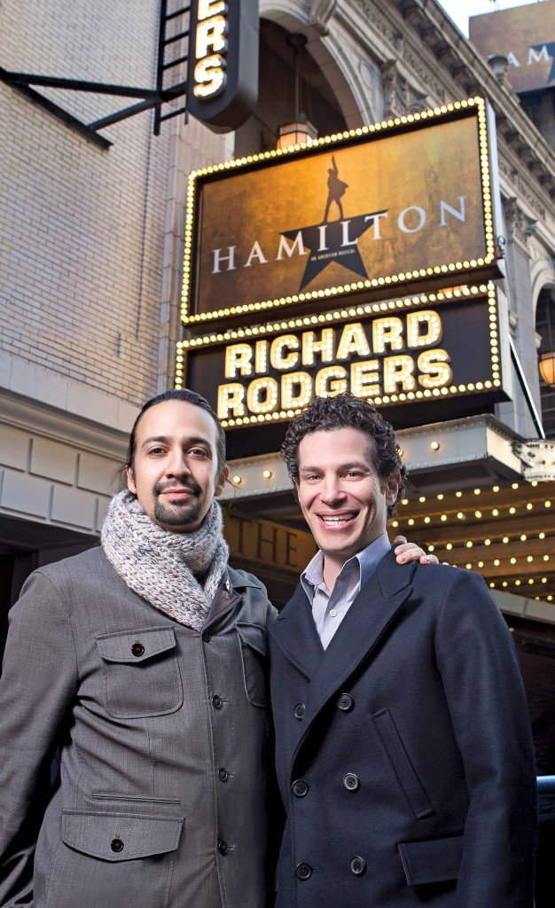 Lin-Manuel Miranda and Thomas Kail, New York NY 2015.