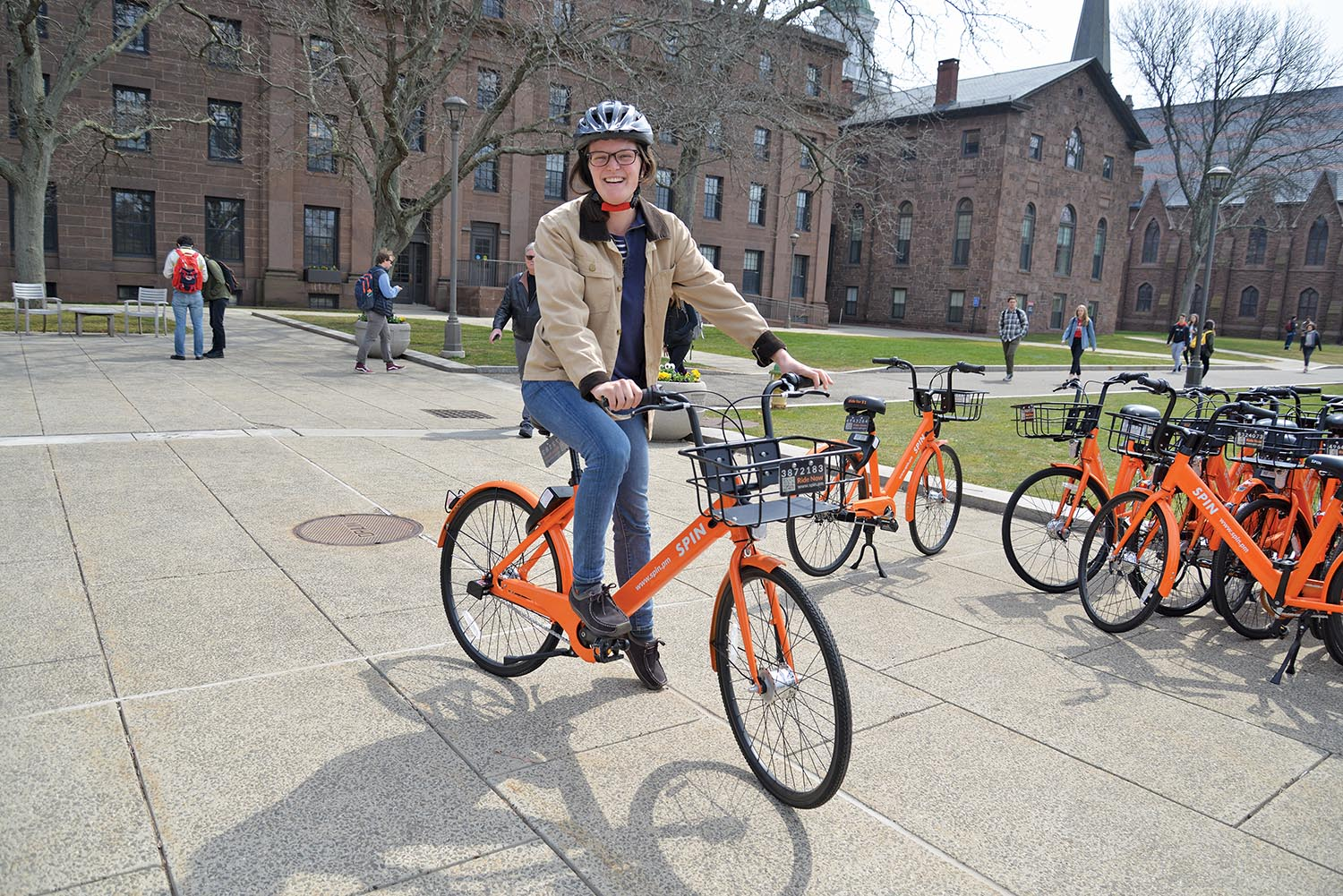 WESLEYAN INTRODUCES SPIN BIKESHARE PROGRAM