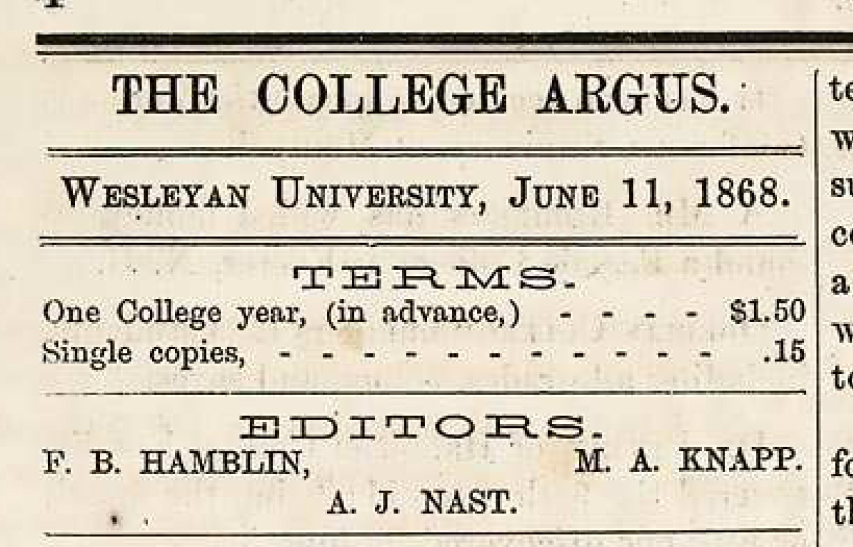 Historical Row: The First Argus Editors