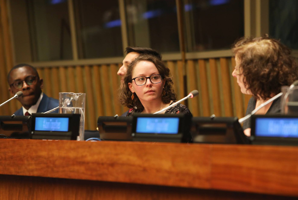Caroline Kravitz speaks at UN conference