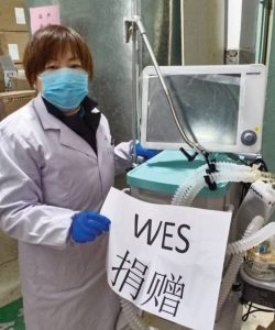 Wesleyan donations to Chinese hospital