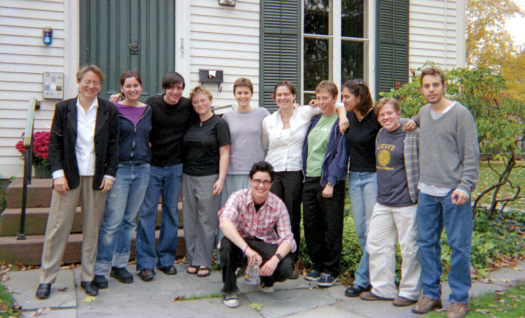 Crosby and students