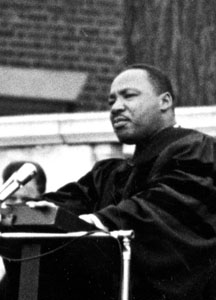 TED SHAW '76 REMEMBERS  MLK ADDRESS: 'DON'T WAIT TO CHANGE THE WORLD'