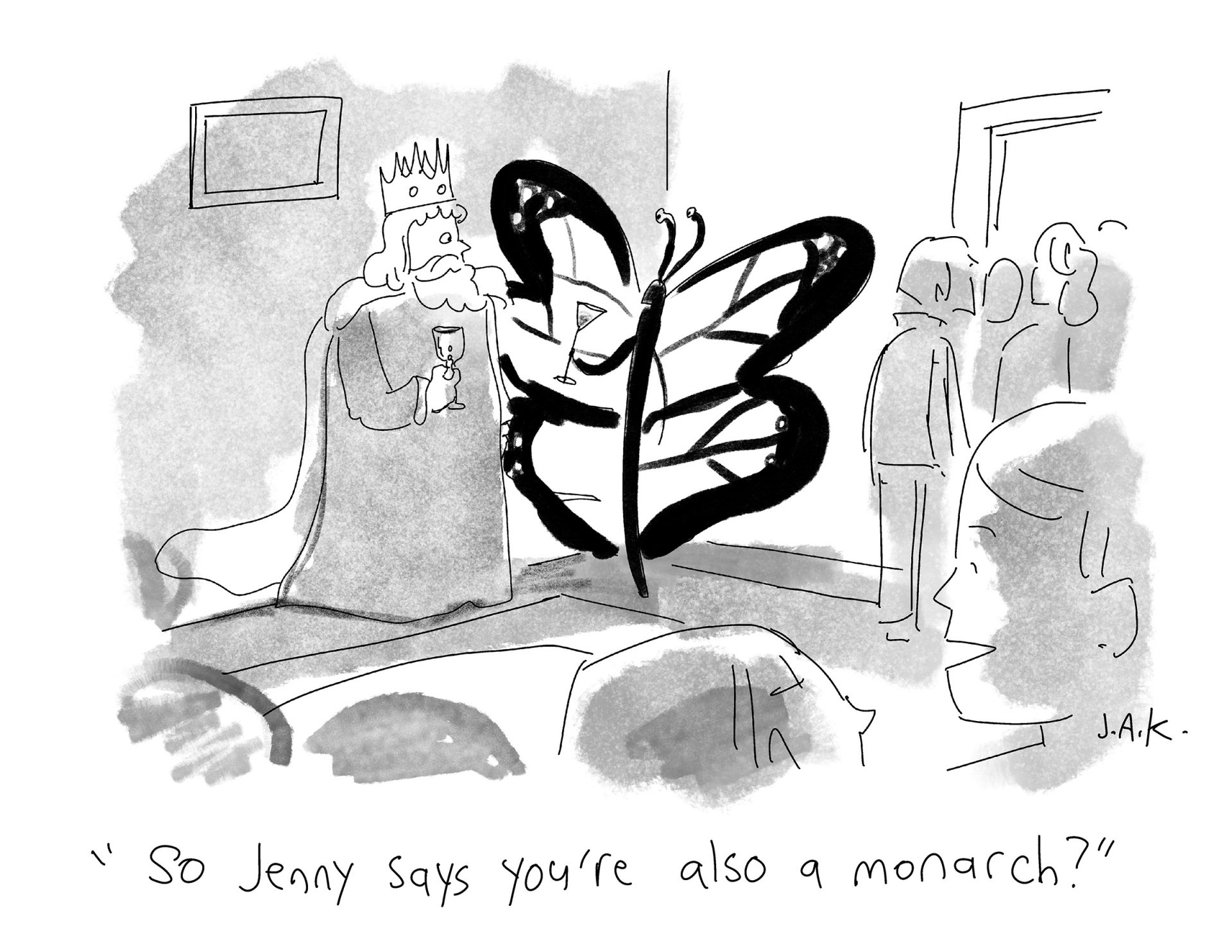 monarch cartoon