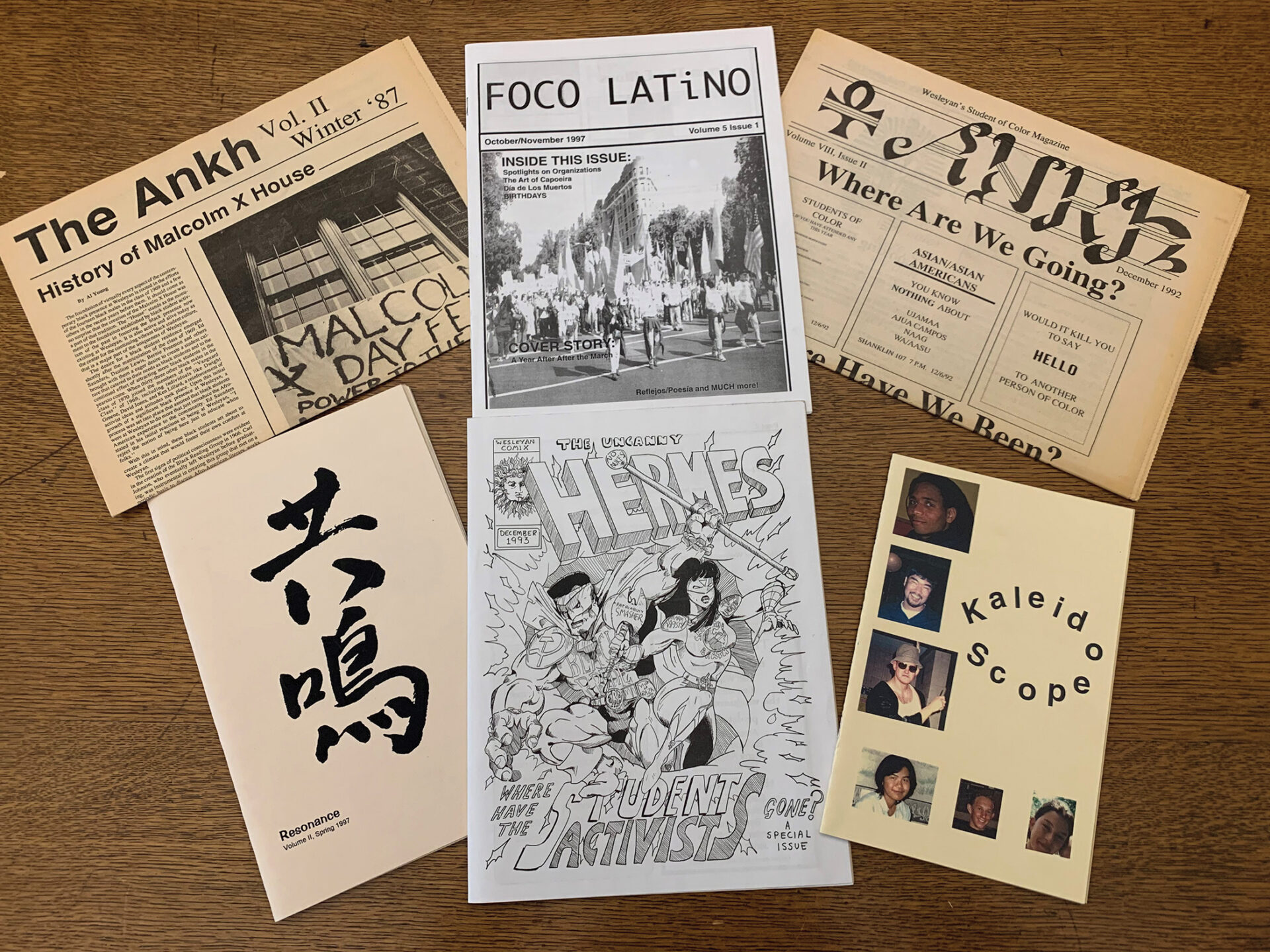 Historical Row: Student Groups as Signs of the Times